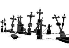 Begraafplaats vector illustratie