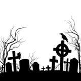 Begraafplaats royalty-vrije illustratie