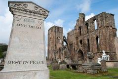 Begraafplaats bij de Kathedraal Elgin Stock Afbeelding