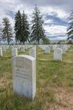 Begraafplaats bij Weinig bighorn Stock Foto's