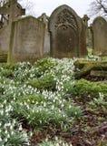 Begraafplaats in Burwell royalty-vrije stock afbeeldingen