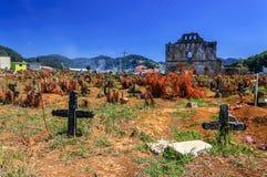 Begraafplaats, Chamula, Mexico stock afbeelding