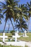 Begraafplaats door het strand Royalty-vrije Stock Afbeeldingen