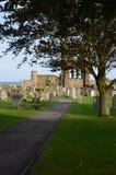 Begraafplaats en Overblijfselen van St Andrews Cathedral stock foto
