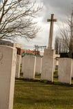 Begraafplaats gevallen militairenwereldoorlog i Vlaanderen België stock afbeelding