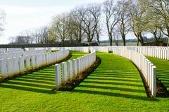 Begraafplaats grote wereldoorlog één Vlaanderen België royalty-vrije stock foto