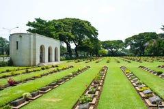Begraafplaats in Kanchanaburi, Thailand Stock Afbeelding