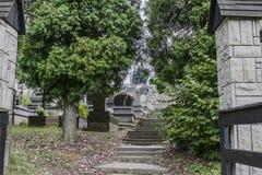 Begraafplaats in klein dorp Royalty-vrije Stock Foto