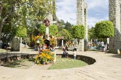Begraafplaats in Oaxaca, Mexico stock afbeeldingen