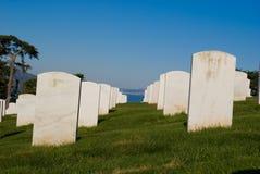 Begraafplaats op Heuvel en Baai Royalty-vrije Stock Afbeeldingen