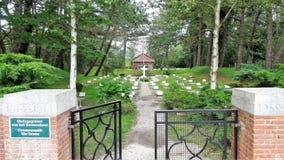 Begraafplaats Schiermonnikoog stock afbeelding