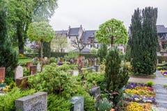 Begraafplaats Stein am Rhein Zwitserland Stock Foto's