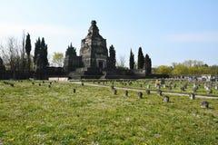 Begraafplaats van Crespi-d'Adda stock afbeeldingen