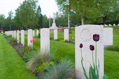 Begraafplaats van de Holten de Canadese oorlog royalty-vrije stock afbeelding