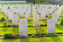 Begraafplaats van de Holten de Canadese oorlog stock afbeeldingen