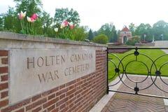Begraafplaats van de Holten de Canadese oorlog royalty-vrije stock foto