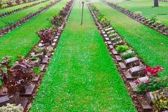 Begraafplaats van de militairen van de Wereldoorlog II. Royalty-vrije Stock Afbeelding