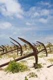 Begraafplaats van de oude ankers Stock Foto's