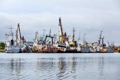 Begraafplaats van de oude schepen Royalty-vrije Stock Fotografie