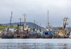 Begraafplaats van de oude schepen Royalty-vrije Stock Afbeelding