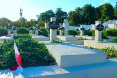 Begraafplaats van de Poolse strijders Royalty-vrije Stock Foto