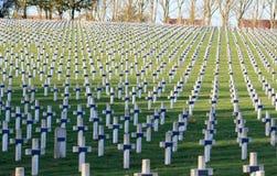 Begraafplaats van Franse militairen van Wereldoorlog 1 in Targette royalty-vrije stock foto
