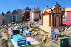Begraafplaats van kleuren in Guatemala stock afbeelding