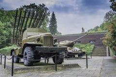 Begraafplaats van Sovjetmilitairen - Seelow Stock Afbeeldingen