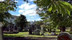 Begraafplaats voor begrafenisbegrafenis stock videobeelden