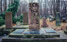 Begraafplaats in Warshau Stock Afbeeldingen