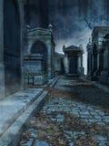 Begraafplaatssteeg royalty-vrije illustratie