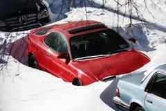 Begraben im Schnee Lizenzfreie Stockfotografie