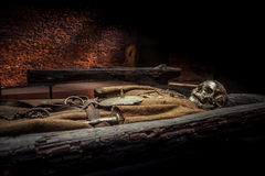 Begraben mit Waffen Lizenzfreie Stockbilder