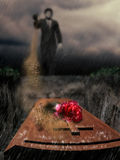 begrafenis stock illustratie