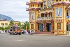 Begrafenis in Cao Dai Holy See Temple, Tay Ninh-provincie, Vietnam royalty-vrije stock afbeeldingen
