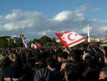 Begrafenis Ceremonie van Rauf Denktas Royalty-vrije Stock Afbeelding