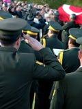 Begrafenis Ceremonie van Rauf Denktas Stock Foto