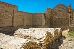 Begrafenis in het necropool van chor-Bakr, de zomer Zonnige dag in Bukha royalty-vrije stock fotografie