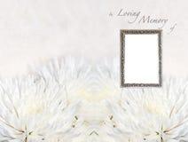 Begrafenis programmamalplaatje Stock Afbeelding
