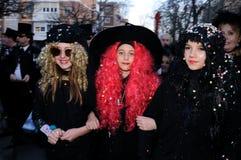 BEGRAFENIS VAN de SARDINE Carnaval. Madrid .SPAIN Stock Afbeelding