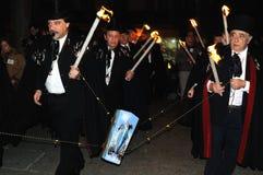 BEGRAFENIS VAN de SARDINE Carnaval. Madrid .SPAIN Stock Fotografie