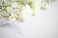 Begrafenisbloemen royalty-vrije stock foto's