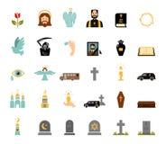 Begrafenispictogrammen Stock Foto