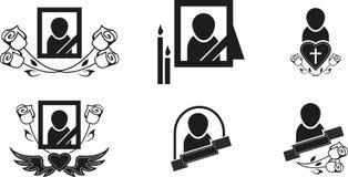 Begrafenissymbolen stock illustratie