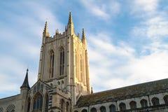 Begrava domkyrkatornet för St Edmunds Arkivbild