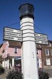 Begrava riktningstecknet för St Edmunds Arkivfoto