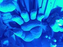 Begravd handsandkonst Fotografering för Bildbyråer