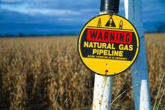 begravd varning för gaspipeline Royaltyfri Fotografi