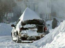 Begraven in sneeuw stock fotografie