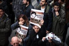 Begravning av det unga Gezi offret Royaltyfri Bild